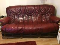 Chesterfield sofa and matching chair