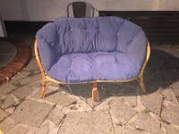 Free wicker sofa with cushion