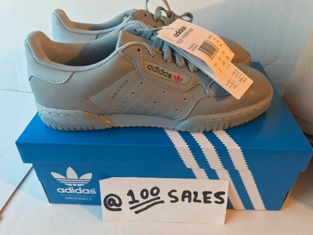 56821057a24dd ADIDAS x Kanye West Yeezy POWERPHASE CALABASAS Grey UK4.5 Or UK5.5 CG6422  ADIDAS RECEIPT 100sales