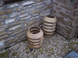 Antique chimney vent pots