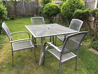 Aluminium Garden Set (Table and Four Chairs)