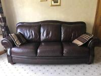Real leather 3 seater sofas