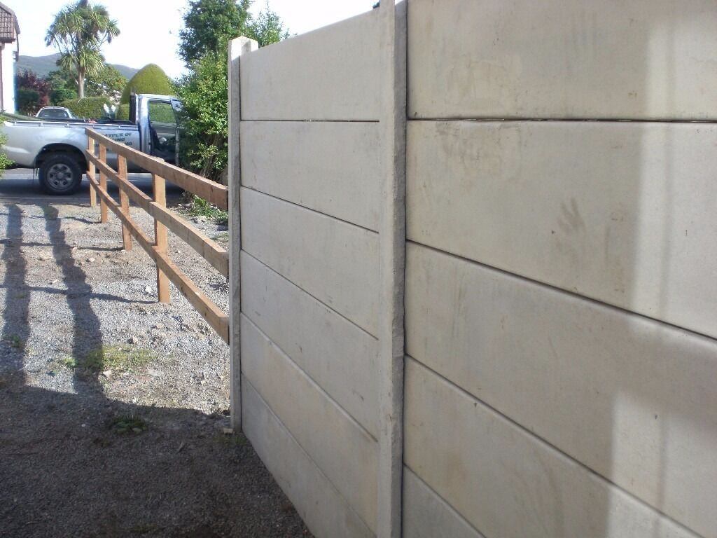Concrete Fence Panels For Sale 163 4 Each In Great Condition