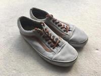 Size 9 Grey Vans Trainers