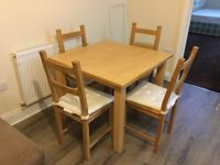 Dinning table with 4 x chairs