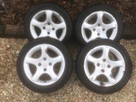 Peugeot 306 Gti-6 Alloy Wheels cyclones with tyres will fit Peugeot Citroen van berlingo 4x108