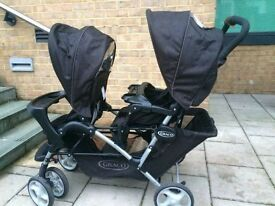Narrow efficient Double buggy which can fit in small space