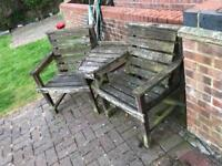 Garden two seater bench