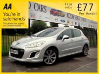 PEUGEOT 308 1.6 HDI ACTIVE 5d 92 BHP Apply for finance Online (silver) 2013