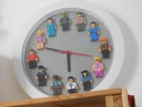 Clock with minifigures