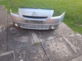 Citroen c2 silver front bumper