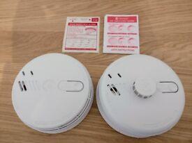 Aico Ei141RC Ionisation Smoke and Ei144RC Heat alarms