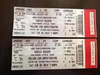 2 tickets to Darius Ruckers Southern Style Tour