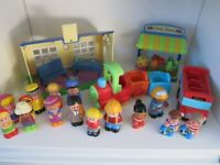 HappyLand school, bus, train and loads of figures.