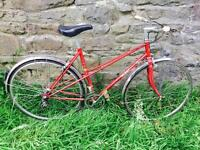 Red Talbot Mixte vintage road/touring bike