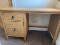 Solid Oak Desk/Dressing Table - £70.00