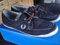 Fred Perry size 10 shoes navy blue pumps