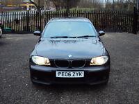 BMW 1 SERIES 116i ES 1.6 5DR HATCHBACK BLACK PETROL AUX CD WITH FULL SERVICE HISTORY LONG MOT