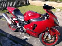 Kawasaki zx12r a1 full power in persimmon red garaged and standard and ready to ride away