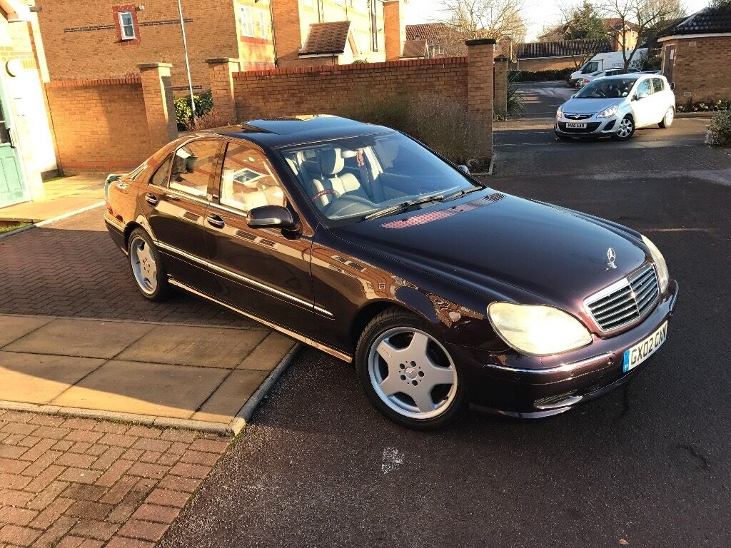MERCEDES S55 AMG 2002 100K HUGE SPEC 2 OWNERS FROM NEW FULL MERCEDES  SERVICE HISTORY