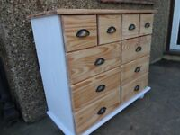 PINE CHEST OF DRAWERS -- 10 DRAWERS - MULTI CHEST --