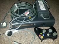 X box 360 120GB black. Good condition