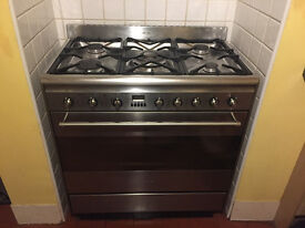 Smeg Dual Fuel Range cooker, 80cm oven, SUK81MFX8