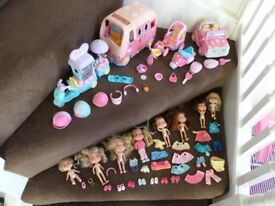 ELC Rosie Dolls collection of *5 vehicles and *8 dolls plus bundled accessories