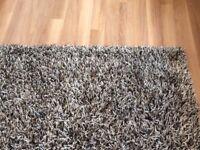 Grey/beige mix shaggy rug 230x160cm