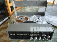 "uher 4200 report stereo model , four speed/track tape recorder , plays 5"" tapes , please read more"