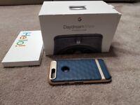New Google pixel phone Black 32gb black unlocked (VR & Case)