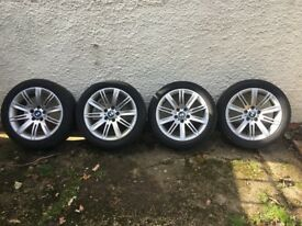 Genuine BMW 18, (120 style) Staggered fit 10 spoke alloy wheels.