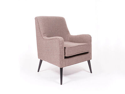 Berkeley Armchair Accent Chair Herringbone Weave Home Furniture Free Delivery