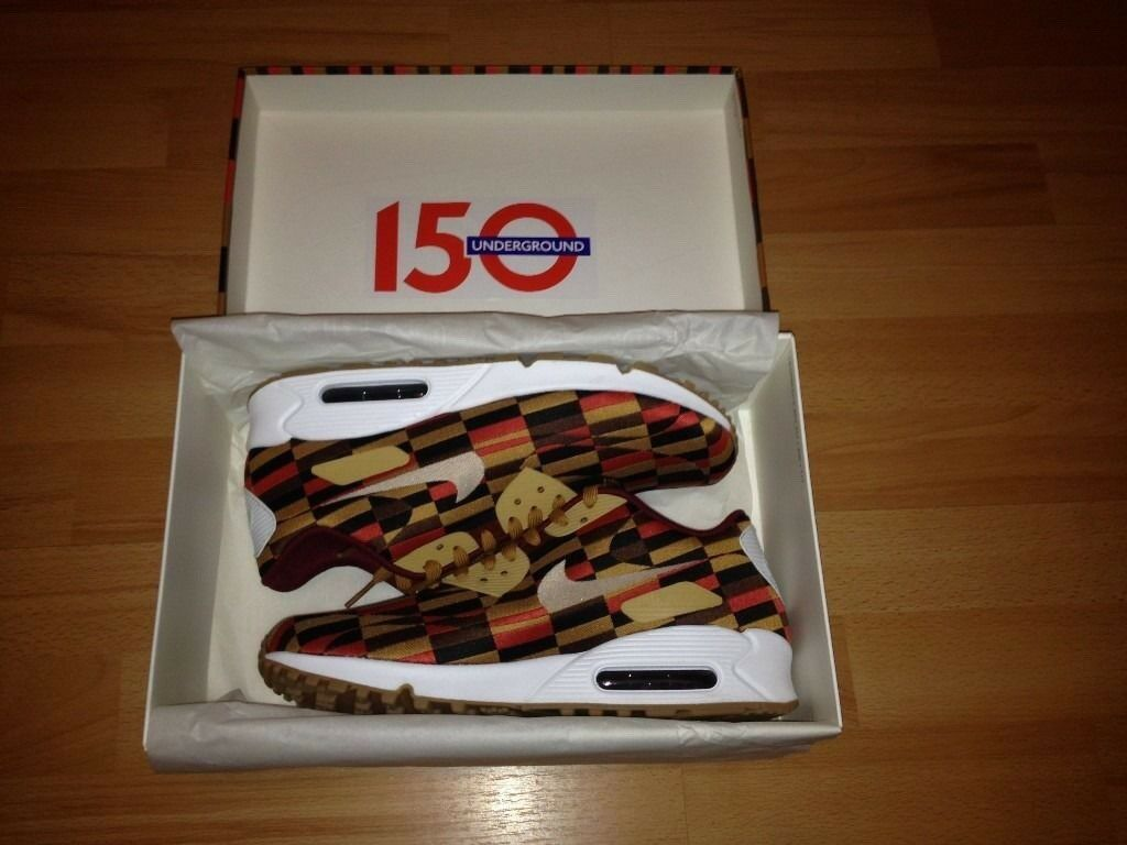 32319514e3 Nike Airmax 90 Roundel 7.5UK 2013 RARE Lim Edt London Underground Tube 150  Year Anniversary 100sales