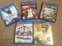 Ps4 PlayStation game collection Star Wars F1 NBA GTA all as new