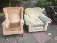 2 Arm chairs free to collect