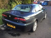 Alfa Romero 156 twin spark 2004 1.6 4 door saloon mot and tax