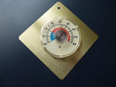 Thermometer 3 Stk, innen u. aussen, genaue Messung, Bimetall, m.Justierschraube