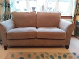 Large taupe fabric sofa