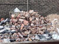 Free stone, bricks rubble