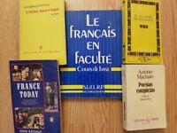 University French & Spanish books x5