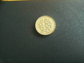Collectable £1 British Coin. 2002 England: Three Lions