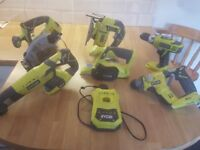 RYOBI 18V PLUS 1 CORDLESS TOOLS (bare units) sold seperatley or maybe as a joblot.