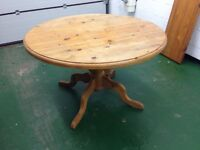 A Round/Oval Pine Table to Sit 4, 6 or 8 to Dinner