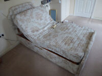 "Large single electric adjustable bed (inc. mattress & headboard) 3'5"" x 7'"