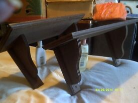 MATCHING PAIR of SHELVES with WALL BRACKETS , JUST £20 for the PAIR , Fantastic ! !