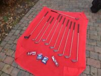 Gent's Right Hand Golf Clubs. Great starter set. 9 x Wilson Irons, Dunlop Driver, Putter plus Bag