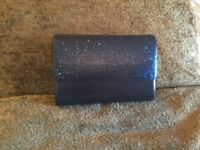 Navy sparkly handbag with gold chain strap - new