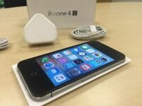 Boxed Black Apple iPhone 4S 8GB Factory Unlocked Mobile Phone + Warranty