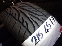 SET OF 4 BRAND NEW 215 45 17 run/flat tyres £50 EACH SUP & FITD OR £180 SET OF 4 TXT SIZE TO